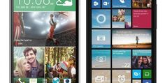 """Pictures of the new version of the system """"Windows Phone"""" from phone HTC One M8"""