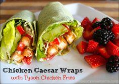 Chicken Caesar Wraps made easy with Tyson Chicken Fries
