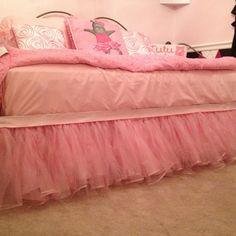 Handmade tutu bed skirt for my little princess!
