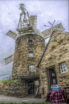 beautiful stone windmill
