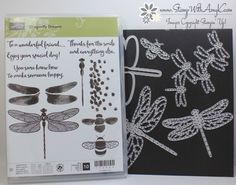 I used the Stampin' Up! Dragonfly Dreams stamp set and coordinating dies and a little of the Falling In Love DSP from the upcoming 2017 Occasions Catalog to create my card to share today. I …