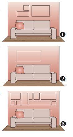 sala, como decorar parede atrás do sofá Arrangement                                                                                                                                                                                 Más