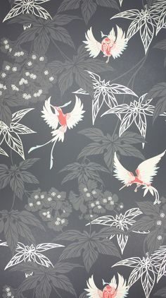 An exotically coloured hummingbird darting between foliage, named after the tropical bird garden outside Kells in County Meath. Osborne & Little wallpaper Available in 7 colorways Washable Sold in 11 yd rolls, wide. Osborne And Little Wallpaper, Wall Wallpaper, Wallpaper Backgrounds, Colorful Backgrounds, Floral Wallpapers, Interior Wallpaper, Luxury Wallpaper, Papier Paint, Aesthetic Couple