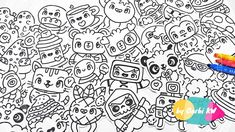 28 little Drawings for your doodles - Easy and Kawaii Drawings by Garbi KW You Doodle, Doodle Art, Simple Doodles, Kawaii Drawings, Art For Kids, Easy, Snoopy, Cartoon, Small Drawings