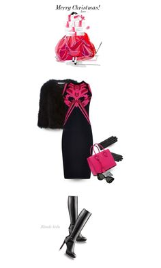 """""""Dear Santa, please leave your credit card under the tree"""" by blonde-bedu ❤ liked on Polyvore featuring Givenchy, Versace, Linda Farrow, women's clothing, women's fashion, women, female, woman, misses and juniors"""