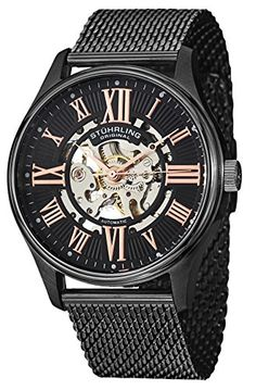 Shop for Stuhrling Original Men's Atrium Elite Automatic Skeleton Stainless Steel Mesh Band Watch. Get free delivery On EVERYTHING* Overstock - Your Online Watches Store! Stainless Steel Mesh, Stainless Steel Bracelet, Atrium, Mesh Band, Online Watch Store, Automatic Watches For Men, Mesh Bracelet, The Originals, Shopping