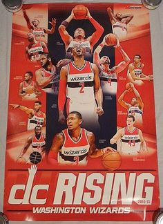 2014-2015 Washington Wizards NBA Team Poster JOHN WALL OTTO PORTER BRADLEY BEAL #WashingtonWizards