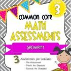 18 pages of rigorous math assessments! Includes 3 tests (Pre-Assessment, Meeting the Standard, and Exceeding the Standard) for EVERY grade 3 Common...
