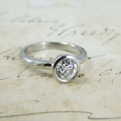 Alexis Dove Jewellery | Vintage Old Mine Cut Diamond Engagement Ring