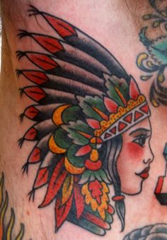 This may be one of the most beautiful girls I've ever seen. Dynamite indian tattoo by Dan Gilsdorf