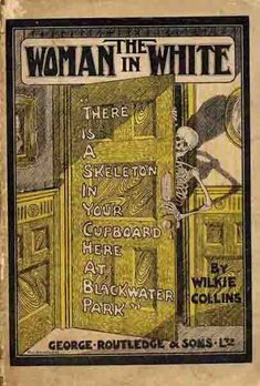 "The Woman in White - and incredible novel of suspense and mystery by the inimitable Wilkie Collins.  one of my ""10 books to be stranded with on a desert island"" This cover is also available as a Kindle cover from the fine folks at M-Edge."