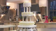 Traditional spring wedding cake recipe - BBC Food Cake Pillars, Make Your Own Wedding Cakes, Cake Recipes Bbc, Edible Glue, Cake Board, Colorful Cakes, Round Cakes, Cake Tins, Cake Shop