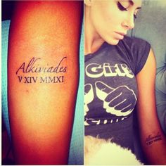 Tattoo, placement, Roman numerals