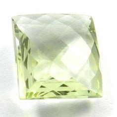 Sparkle NATURAL GREEN AMETHYST 12x12mm square briolette cut gemstone, 7.65CTS #Handmade