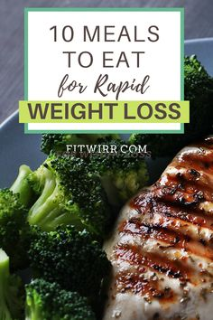 10 healthy meals for weight loss. and lbs fast. These weight loss low-carb meals are perfect for those looking to lose weight and slim down in a healthy way while eating healthy delicious meals. Dieting not required and you never have to starve to s Healthy Food To Lose Weight, Healthy Foods To Eat, Easy Healthy Recipes, How To Lose Weight Fast, Diet Recipes, Healthy Eating, Diet Foods, Clean Eating, Healthy Delicious Meals