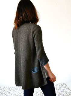 knittingtherapy - stripes inside pocket
