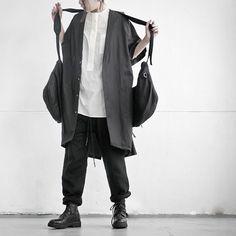 Jacket & Vest Bag & Trousers / nude:masahiko maruyama Shirt / bassike Shoes / GUIDI