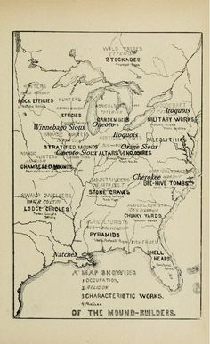 Mound Builders: Map of Historic Tribes of the Hopewell Mound Builders