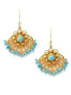 Turquoise Chandelier Drop Earrings