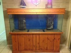 150 Gallon Aquarium Salt Water Fish Tank Reef Ready With Stand & Canopy