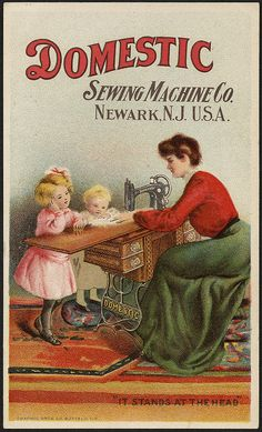 Domestic Sewing Machine Co., 'It stands at the head' (front) | Flickr: partage de photos!