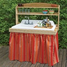 Salvaged sink becomes outdoor bar --  Photo:  | thisoldhouse.com | from 10 Smart Ideas for Outdoor Kitchens and Dining