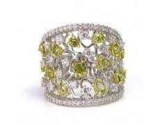 3.70 ctw Diamond 14K White Gold Ring