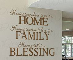 Having Somewhere Go Home Blessing Family Love Home Wall Decal Saying Adhesive Vinyl Lettering Decoration Quote Sticker Art Mural Decor F72