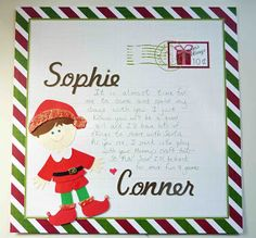 Elf onthe shelf - a letter before arrival made by L.B. for Cricut FANatics crafting is our passion