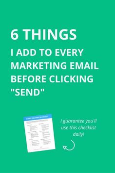 Email marketing checklist for small businesses owners. Easy checklist for sending emails that people open, read, and click on!