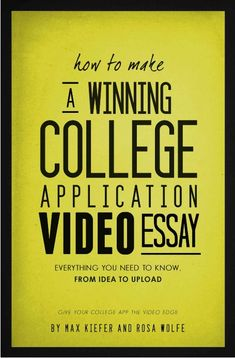 College application essay writing video