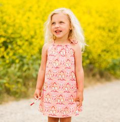 PDF Sewing Pattern, Free Sewing Pattern, Girl's Dress Pattern, Pillowcase Dress Pattern, This is the easiest dress pattern around. Great for beginners looking for a simple, but adorable dress. Can be worn with jeans as a shirt or as a light, summery dress.