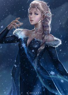 Elsa Frozen 2 by NibelArt on DeviantArt Elsa Frozen, Arendelle Frozen, Ice Princess, Prince And Princess, Disney Princess, Jelsa, Disney Gender Bender, Frozen Fan Art, Disney Treasures