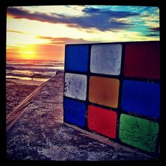 Rubix cube & a sunrise... what's not to love?