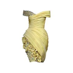 ❤ liked on Polyvore featuring dresses, vestidos, yellow, платья, beige dress and yellow dresses