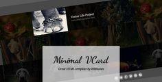 #Minimal #vCard #Hello #Photo #Iam #Business #Personal #HTML