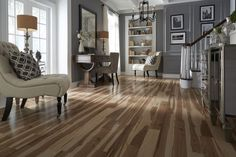 Top Style: This laminate floor is the opposite of plain & simple! The patterns and colors of Rocky Mountain Maple let you use your floor to define your home's style. Bring designer impact to your space with unique looks like this.