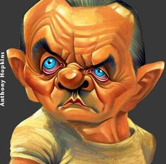 Caricaturas de famosos de hollywood anthony hopkins