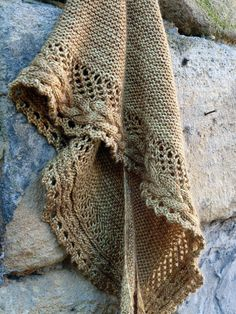 New  Shawl pattern French Cancan available today on Knit Cat's