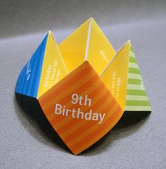 Birthday Invitation, Cootie Catcher, Kids, Children, Party, Favor, Personalized, Custom, Origami, DIY, Decoration, Place Card, Chatter Box