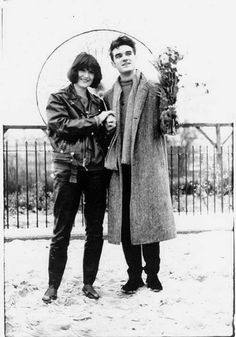 Sandie Shaw and Morrissey of The Smiths ― photo by Andrew Catlin.