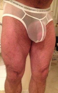 Arousing and Horny Bulging Pouch. Mustache Men, Types Of Guys, Big Guys, Men's Undies, Nice Legs, Gay Men, Beautiful Men, Man Underwear, Andrew Christian