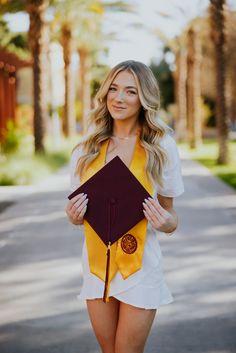 Arizona State University Senior Pictures poses ideas tempe graduation Nursing Graduation Pictures, Graduation Picture Poses, Graduation Photoshoot, College Graduation, Senior Portraits Girl, Girl Senior Pictures, Grad Pictures, Grad Pics, Cap And Gown Pictures