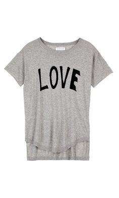 """Graphic """"LOVE"""" Knit Sweater Tee - Velvet By Graham & Spencer"""