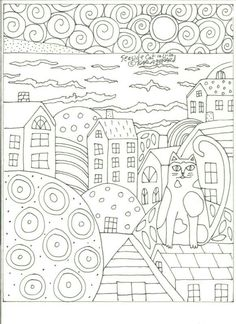 Tree of Life Coloring Page. Free pdf download. #klimt #