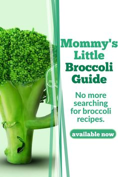 This guide will teach you how to cook broccoli in every way possible, for your baby, toddler and whole family. No more broccoli recipes ever again. Make mealtimes enjoyable, without the anxiety of not finding the right ingredients or recipe. Healthy Baby Food, Healthy Meals For Kids, Meals For One, Toddler Meals, Baby Meals, Kid Meals, Toddler Food, Baby Led Weaning Breakfast, Baby Weaning