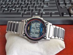 Vtg Timex Atlantis 100 Chrono Alarm Timer Digital Mens Watch w/ Band! Timex Expedition, Atlantis, Casio Watch, 1980s, Watches For Men, Sport, Band, Best Deals, Digital