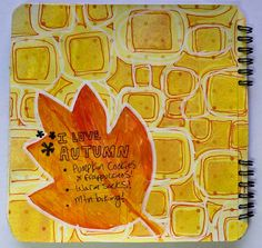 punk projects: An Autumn Art Journal Page
