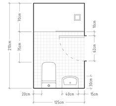 Washbasin: 60 decoration pictures and lavatory designs - Home Fashion Trend Bathroom Plans, Bathroom Layout, Bathroom Cleaning, Small Bathroom, Bathroom Toilets, Bathroom Furniture, Bathroom Interior, Home Interior, Layout Design