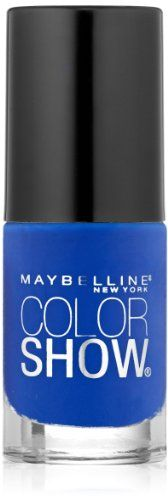 Maybelline New York Color Show Nail Lacquer, Blue Bombshell, 0.23 Fluid Ounce Maybelline http://www.amazon.com/dp/B00IZAVJCK/ref=cm_sw_r_pi_dp_lHPKtb0CERS3W07W